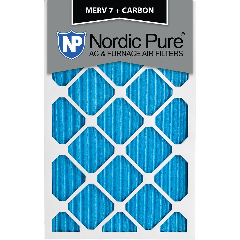 16x25x1 MERV 7 Plus Carbon AC Furnace Air Filters Qty 24