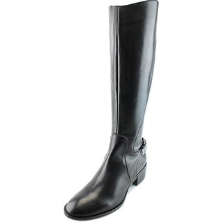 Gerry Weber Elena 02 Women Round Toe Leather Black Knee High Boot