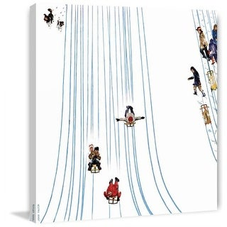Marmont Hill Sledding Designs In The Snow Fine art canvas print from the Marmont Hill Art Collective