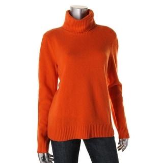 Lauren Ralph Lauren Womens Pullover Sweater Wool Blend Ribbed Trim
