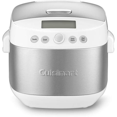 Cuisinart FRC-1000 Rice/Grain 10-Cup Multicooker, White & Stainless