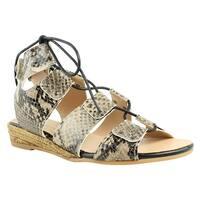 Eric Michael Womens Cobra-265 Python Ankle Strap Sandals Size 7