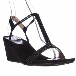 SC35 Mulan2 T-Strap Sparkle Sandals - Black