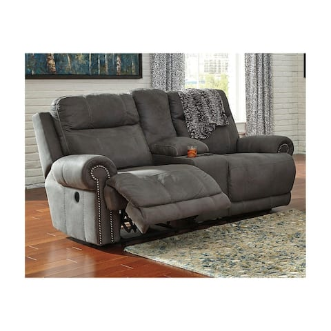 Austere Power Reclining Loveseat with Console Gray