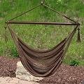 Sunnydaze Hanging Caribbean XL Hammock Chair - Thumbnail 5