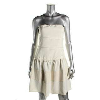 Mark + James Womens Strapless Mini Semi-Formal Dress - S