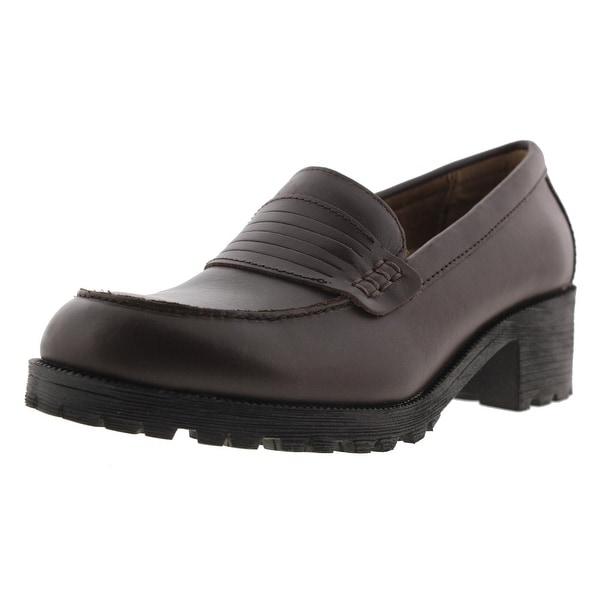 Shop Eastland Womens Newbury Penny Loafers Leather Slip On ...