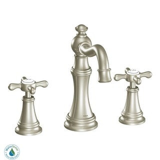 Moen TS42114  Weymouth Double Handle Widespread Bathroom Faucet