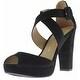 Chinese Laundry Womens All Access Platform Sandals Microsuede Peep Toe - 7 medium (b,m) - Thumbnail 1