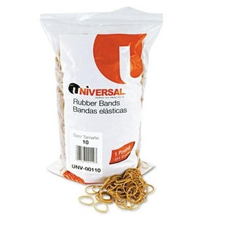 Universal Rubber Bands- Size 10- 1-1/4 x 1/16- 3740 Bands/1lb Pack