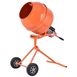 Gymax Portable 5 Cuft Electric Concrete Cement Mixer Barrow Machine