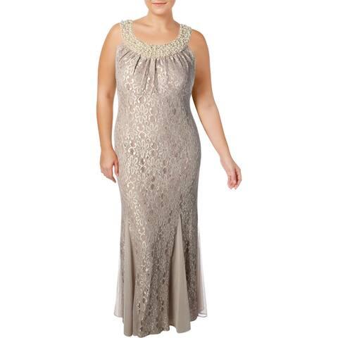 R&M Richards Womens Plus Formal Dress Lace Sleeveless - 14W