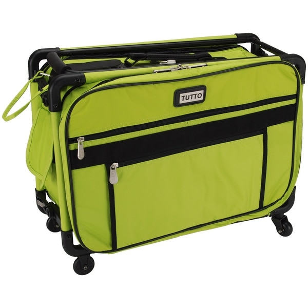 "TUTTO Machine On Wheels Case-20""X13""X9"" Lime - Green"