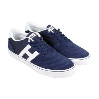 HUF Galaxy Mens Blue Suede Lace Up Sneakers Shoes
