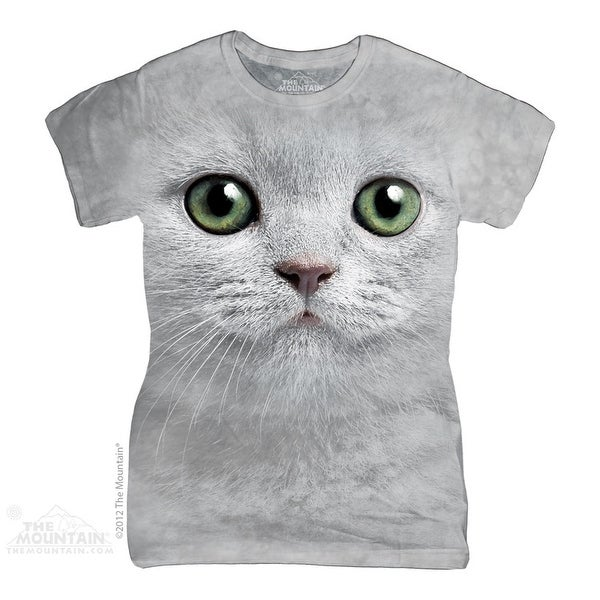 The Mountain Cotton Green Eyes Face Design Novelty Womens T-Shirt