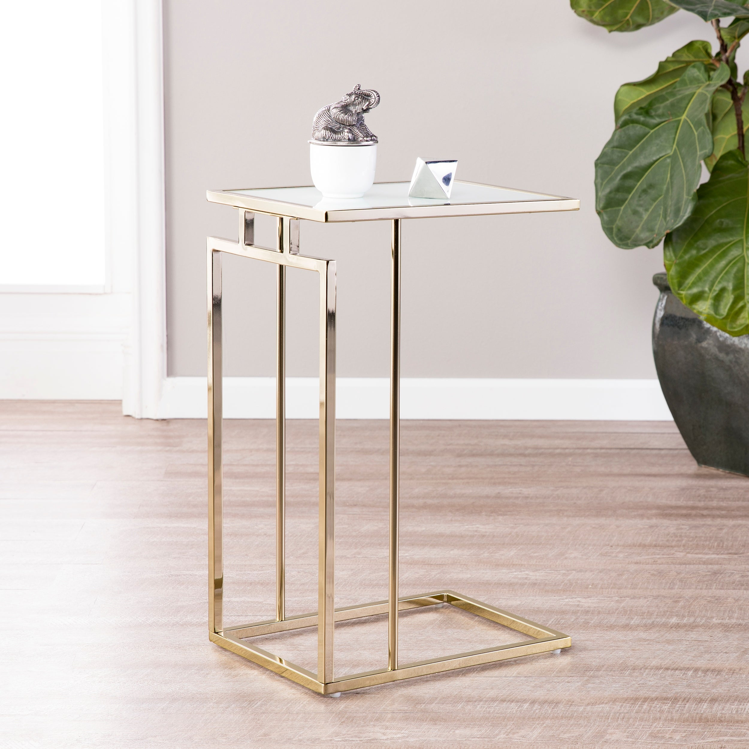 Holly Martin Colbi Glass Topped C Table Overstock 20508872