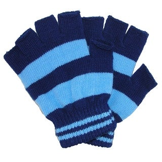 CTM® Toddler Stretch Striped Fingerless Gloves - One size