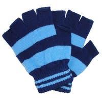 CTM® Toddler Stretch Striped Fingerless Gloves