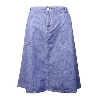 Tommy Hilfiger Women's Pocket Cotton Chambray Skirt