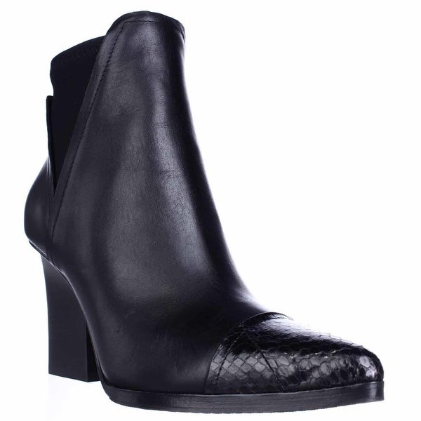 Donald J Pliner Vaughn Pointed Toe Strech Ankle Boots, Black