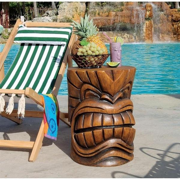 Design Toscano The Kanaloa (Teeth) Grand Tiki Sculptural Table - Shop Design Toscano The Kanaloa (Teeth) Grand Tiki Sculptural Table