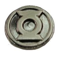 "Green Lantern Logo .75"" Pewter Lapel Pin - Silver"