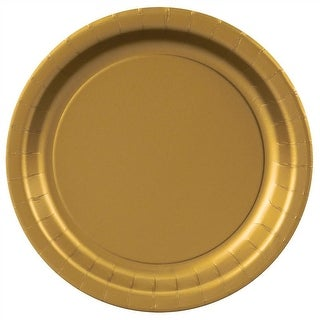 """Gold Paper Plates - 8 5/8"""""""
