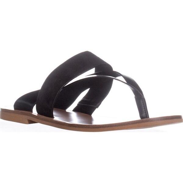 VINCE Tess Slide Thong Flip Flops, Black - 10 us / 40 eu