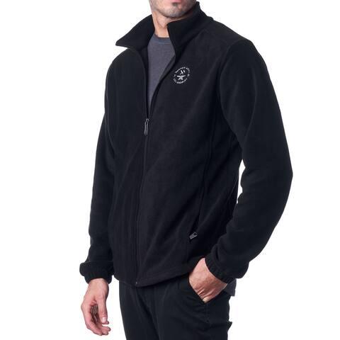 Hammer Anvil Mens Full Zip Up Warm Polar Fleece Jacket - Black