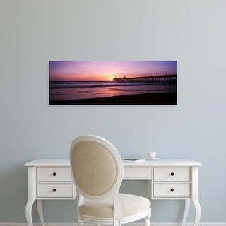 Easy Art Prints Panoramic Images 'Pier in the pacific ocean at dusk, San Diego Pier, San Diego, California' Canvas Art