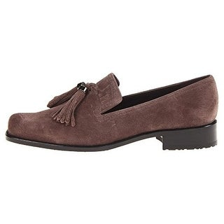 Stuart Weitzman Womens Tassy Lady Velour Tassel Loafers - 5 medium (b,m)