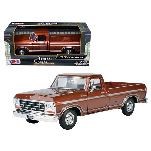 Ford F  Pickup Truck Brown  Cast Model Car By Motormax