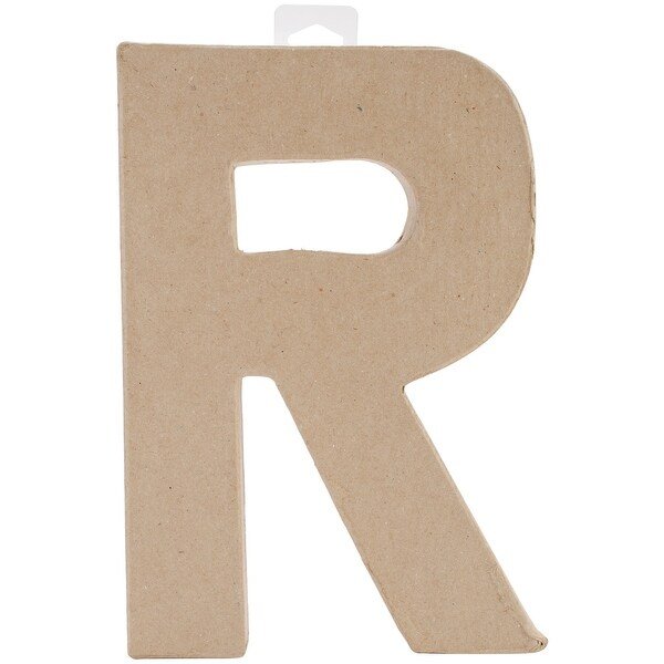 "Paper-Mache Letter 8""X5.5""-R"