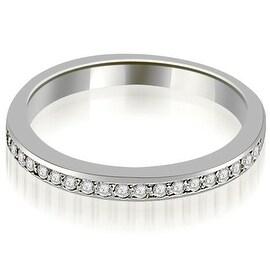 0.20 cttw. 14K White Gold Prong Set Round Diamond Wedding Band
