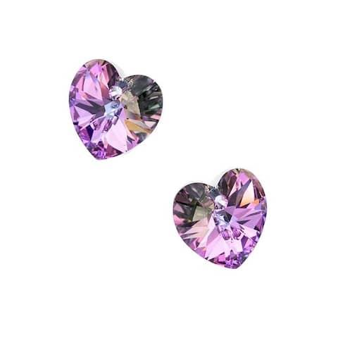 Swarovski Elements Crystal, 6228 Heart Pendants 14mm, 2 Pieces, Vitrail Light
