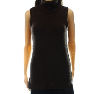 Lauren Ralph Lauren NEW Brown Women's Size XS Turtleneck Vest Sweater