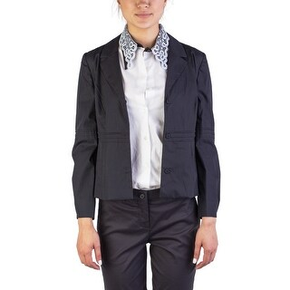 Miu Miu Women's Cotton Enclosed Buttoned Light Jacket Black - 46