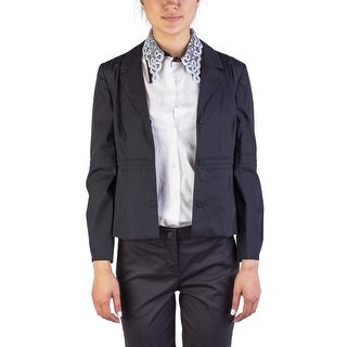 Miu Miu Women's Cotton Enclosed Buttoned Light Jacket Black - 46
