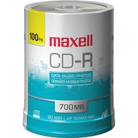 Maxell 648200 Cd-R 700Mb Write Once Recordable Disc Spindle Pack Of 100