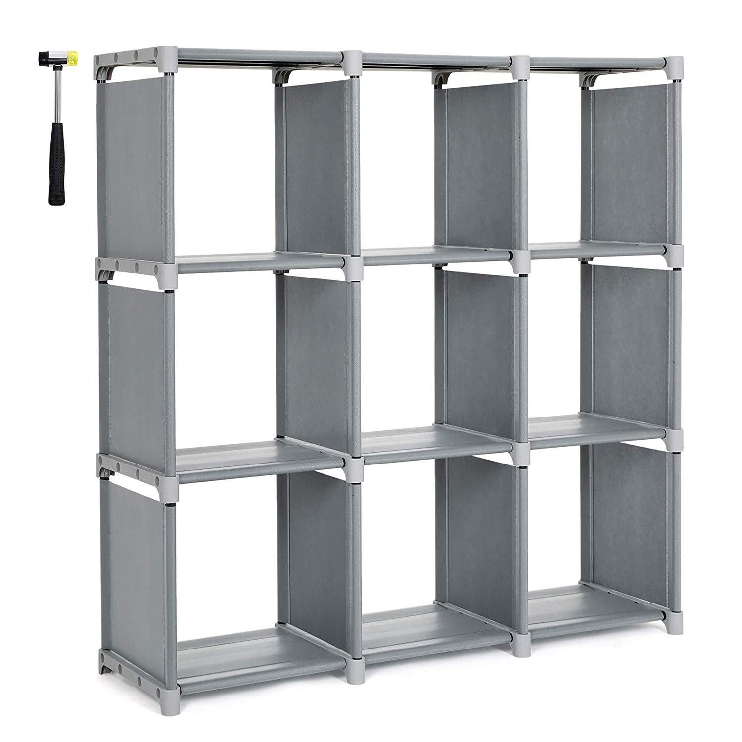Bookcases Shelving 4 Tier 9 Cube