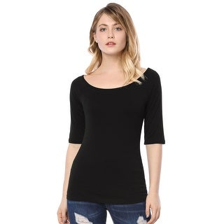 Link to Women Half Sleeves Slim Fit Scoop Neck T-Shirt Similar Items in Women's Plus-Size Clothing