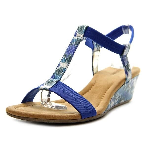 Alfani Voyage Women Blue Ikat Sandals