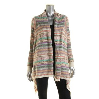 Lauren Ralph Lauren Womens Wool Blend Handkerchief Hem Cardigan Sweater