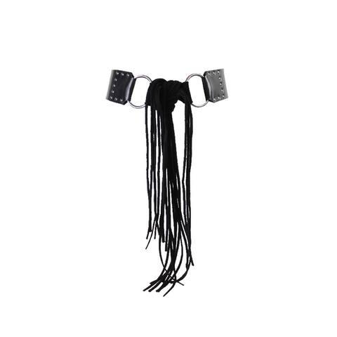 Style & Co. Black Mixed-Media Sash Tie Stretch Belt S-M