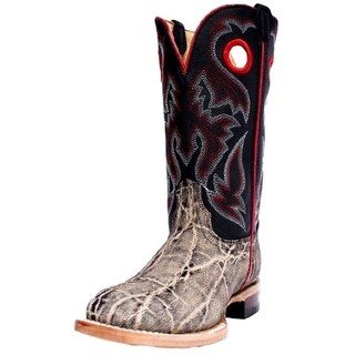 Cinch Western Boots Boys Kid Elephant Print Leather Square Gray