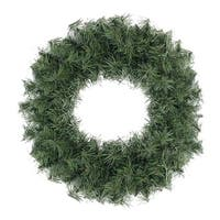 "18"" Canadian Pine Artificial Christmas Wreath - Unlit - green"