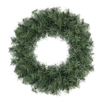 "20"" Canadian Pine Artificial Christmas Wreath - Unlit - green"