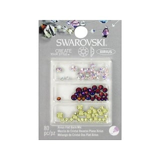 47645571 Cousin Swarovski Flatback Mix Luminous 80pc