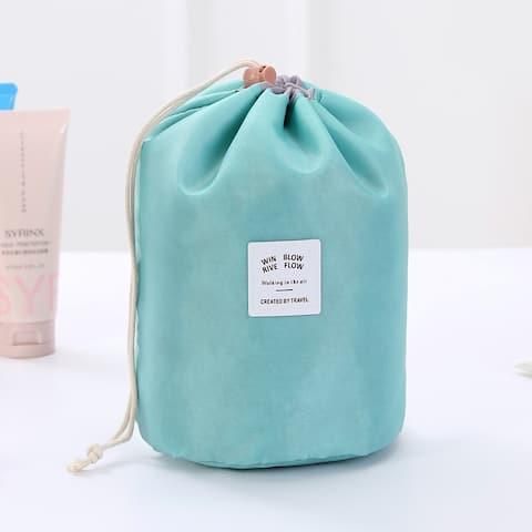 Cylinder Large Capacity Cosmetic Wash Bag