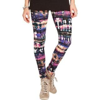 Material Girl Womens Juniors Leggings Printed Pull On